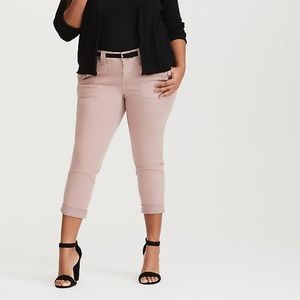 Torrid cropped twill military pant soft pink Sz.20